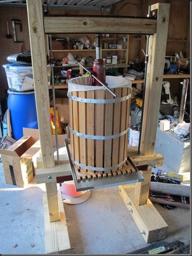 Building a Cider Press - this doesn't include plans, but it's a useful to see the building process