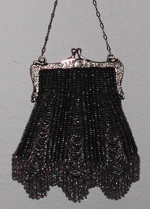 1927 Beaded Knit Purse Pattern The Three by patternsalacarte, $2.99