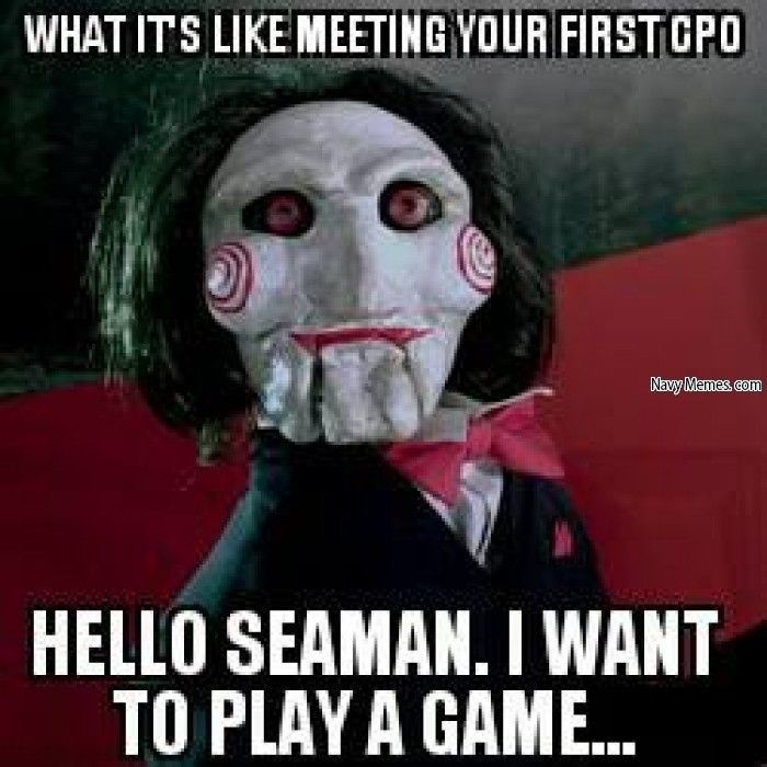 Meeting a Chief for the first time - Navy Memes - clean mandatory fun