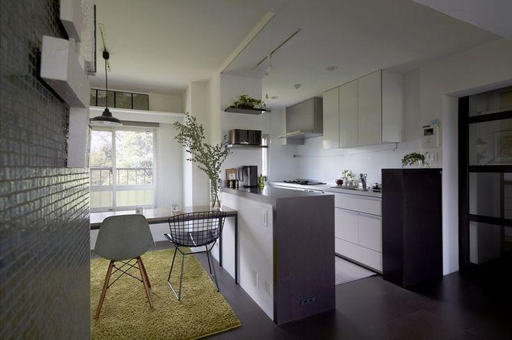 クリナップ、キッチンカウンター、バックカウンター、キッチン、キッチン収納、断熱材、ガイナ、アーバンスタイル、リノベーション、三井のリフォーム