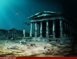 The city of Palvopetri underwater off the coast of southern Laconia in Greece