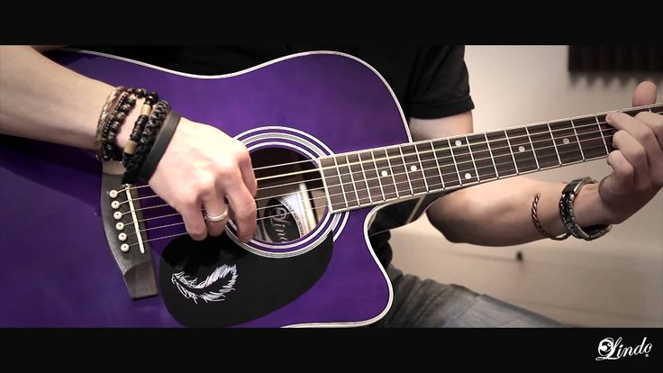 Lindo Guitars - Purple Swallow Electro-Acoustic Guitar - Demonstration