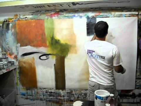 """Forbidden Dance"" the making of Large abstract painting by Chicago Artist Gino Savarino"