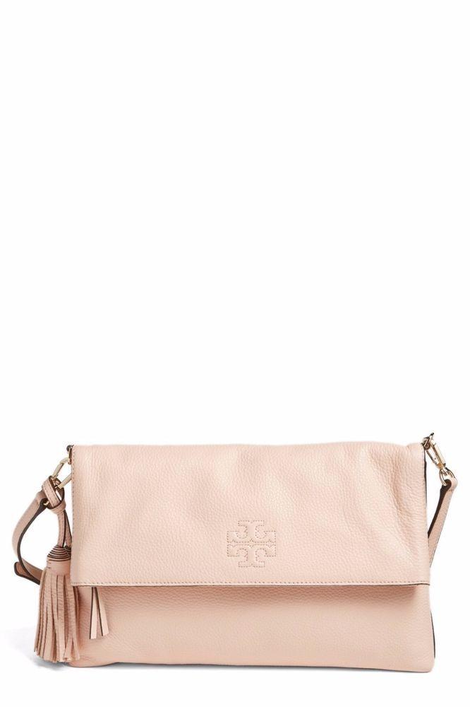 503c58eb620 Tory Burch Thea Leather Foldover Crossbody Bag Handbag - Sweet Melon - NWT