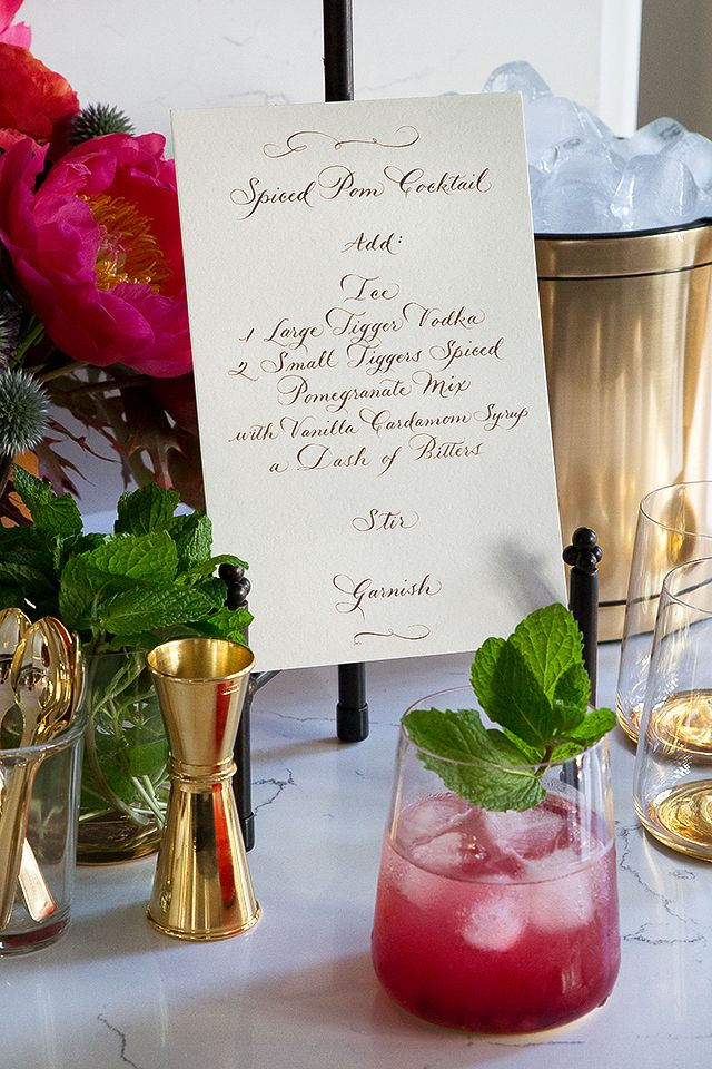 DIY Cocktail Station | Cocktails, Recipe Cards and DIY