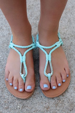 Strappy Mint Sandals ATHENA-868A | UOIOnline.com: Women's Clothing Boutique