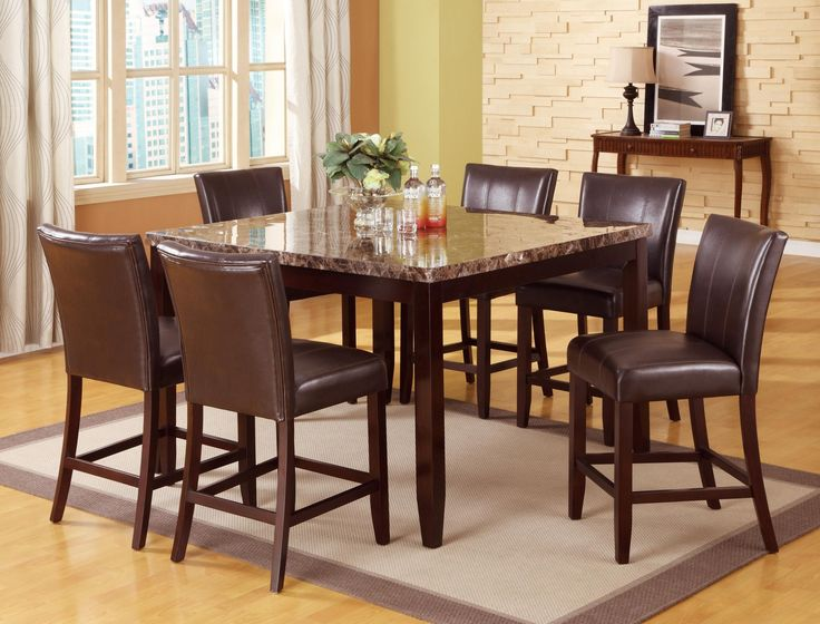 Ferrara Parson 5 Piece Counter Height Table And 4 Chairs 59900 54 X