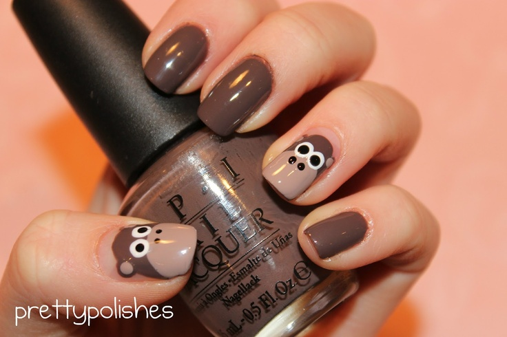Seriously, who can resist these little guys? prettypolishes: Monkey Nails!