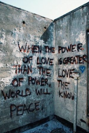 Make love, not war.