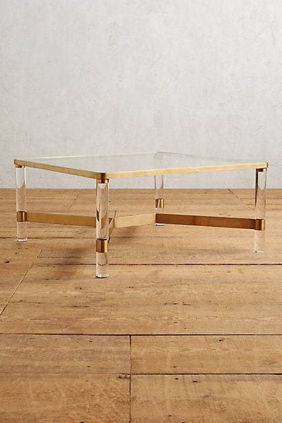 Oscarine Lucite Coffee Table, Square #anthropologie