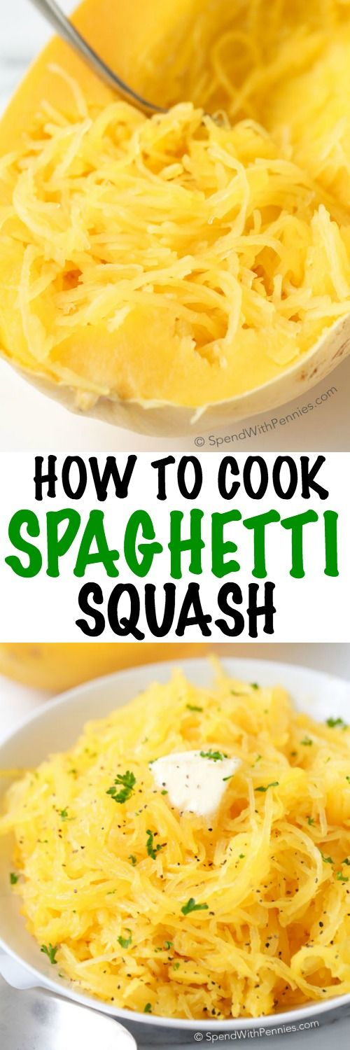 Spaghetti Squash is literally one of my favorite veggies year round. It is delicious, filling and it makes a great low carb substitute for pasta dishes or in soups! Just a little bit of butter or oliv (Lemon Butter Spaghetti)