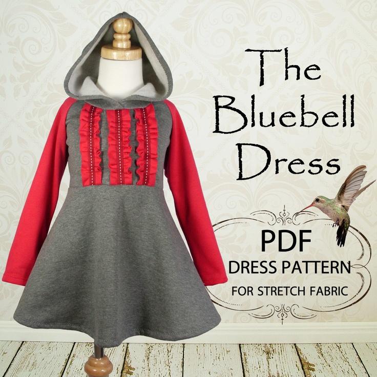 Girls dress pattern childrens sewing pdf