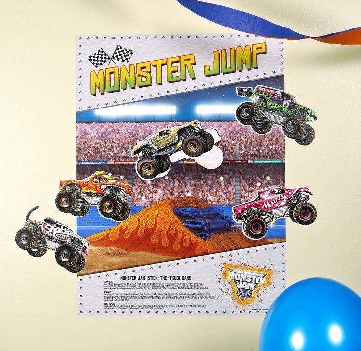 "Monster Jam 3D ""Stick the X"" Game from BirthdayExpress.com"