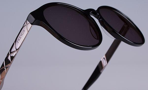 Treyca Panto Polished Grey Sunglasses. #Treyca #Sunglasses