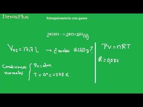 Estequiometría con gases