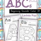 Beginning Sounds - Color It!  These are very basic beginning sounds worksheets for children in Pre-K and Kindergarten. Children are asked to color ...