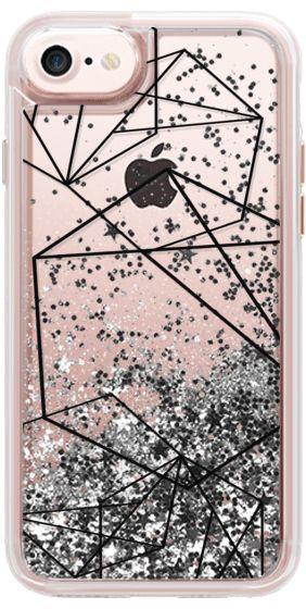 Casetify iPhone 7 Glitter Case - Minimal Dreams by MYbyDesigns #Casetify