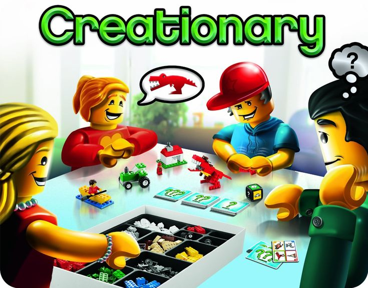 LEGO Creationary Game Games Super fun for everyone. I think its one of the best lego game ever made!
