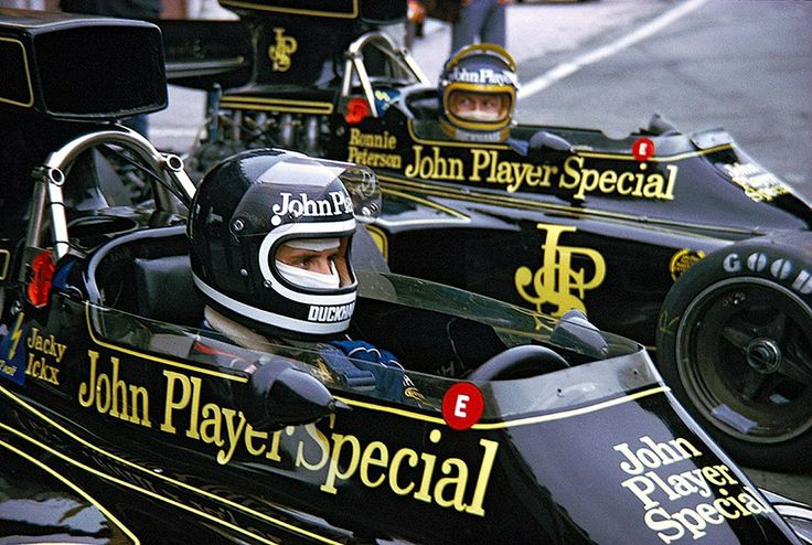 Jacky Ickx and Ronnie Peterson in the Lotus 72 my dad was jacky's mechanic at the time