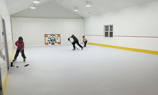 Synthetic Ice Photo Gallery | Residential Ice Rinks | KwikRink Synthetic Ice®