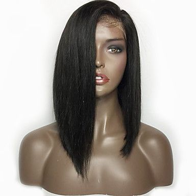 Short Bob Straight Hair Lace Front Wig Brazilian Lace Front Human Hair Wigs With Baby Hair For Women 5629489 2017 – $89.99