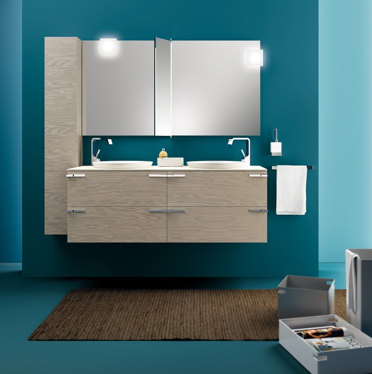 #kylpyhuone #scavolini #decorkylpyhuoneet #kylpyhuonekalusteet #sisustus  Aquo kylpyhuonekaluste Scavolini Scavolini Bathrooms | #Mirror | #Lamps | #Design