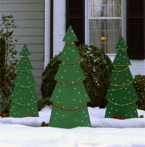 Noel Tree Yard Decor - 	Making a holiday tree yard decoration is a fun project for the whole family. Anyone with basic DIY knowledge can tackle this project in a couple hours or less, and having the little ones help decorate will certainly brighten your holidays. Get started by downloading a PDF version of this project, and then follow the steps below and see how easy it is to complete.