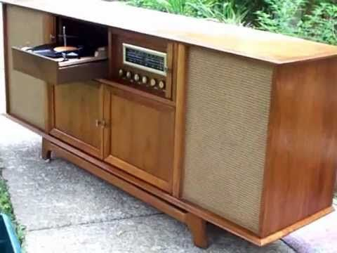 1961 Curtis Mathes Stereophonic, High-Fidelity, Royal Dane turntable.