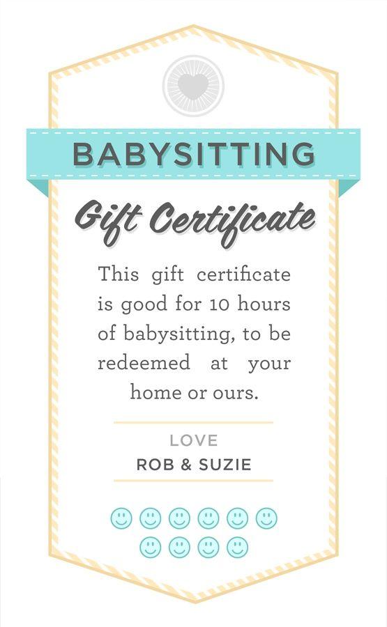 babysitter date night printable