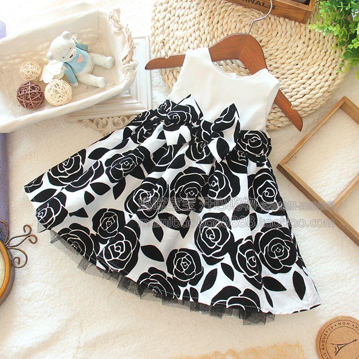 free shipping Female baby boy black spaghetti strap one-piece dress female fashion dress female vest one-piece dress $28.54