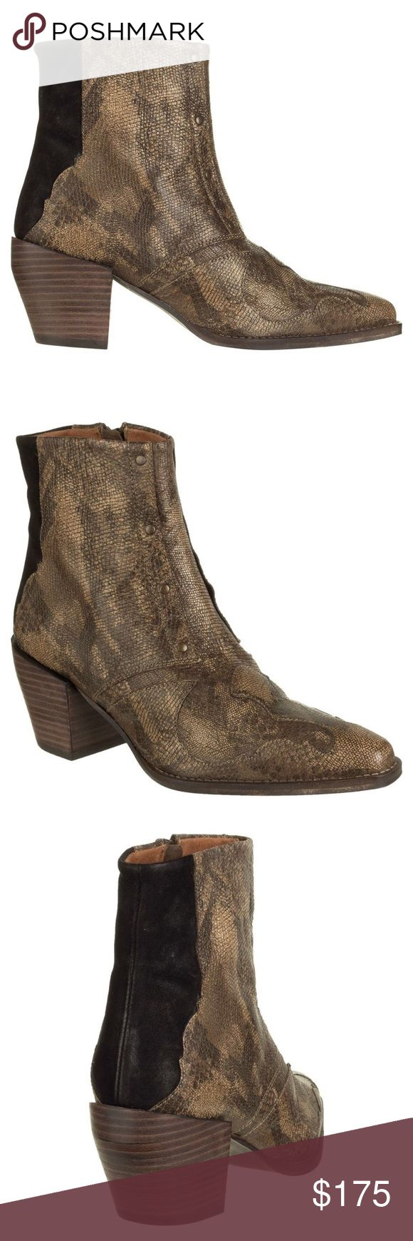 """NWT Free People Nevada Thunder boot, 8.5 NWT Free People Nevada Thunder boot, 8.5 Evocative of the open road, wide-eyed rattlesnakes, and red stained skies, The Nevada Thunder features a classic, cowboy boot silhouette, while the ankle height, embossed leather, and metal detailing adds a bit of cinnamon-whiskey kick to your outfit.  Soft, leather upper features zippered entry Embossed details 5"""" shaft 3"""" heel Free People Shoes"""