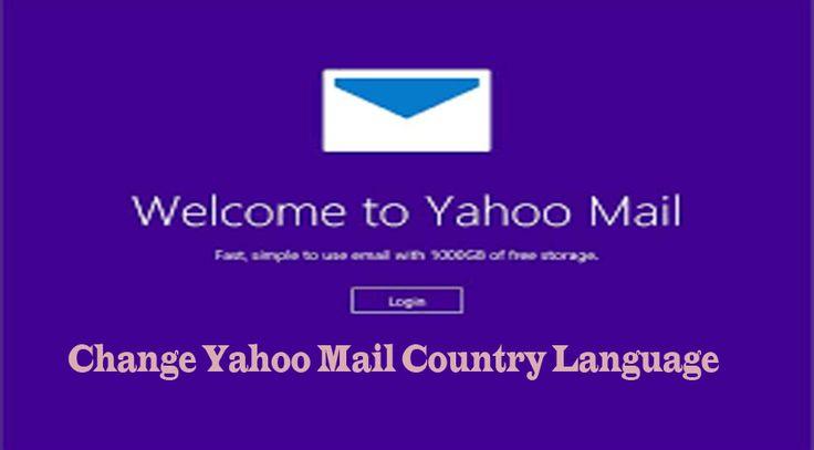 How to change yahoo mail country language