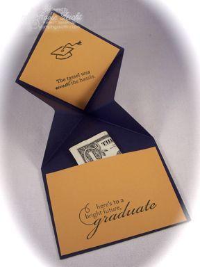 handmade Fancy Fold Graduation Card ... inside view ...