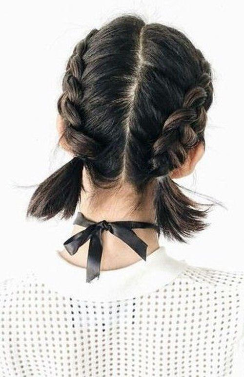 30 Best French Braid Short Hair Ideas 2019 With Images French Braid Short Hair Braids For Short Hair