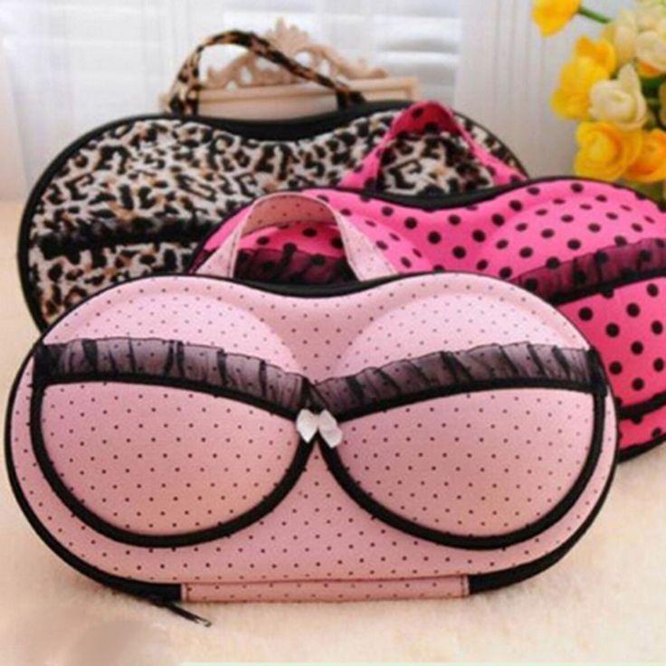 Wanita Lady Bra Lindungi Underwear Lingerie Travel Tas Penyimpanan Portabel Kotak Kasus