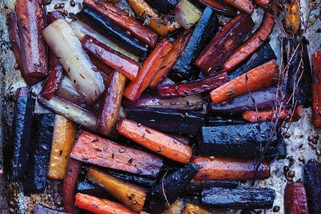 Honey-Roasted Carrots with Tahini Yogurt Adapted from Plenty More, by Yotam Ottolenghi, Copyright © 2014, published by Ten Speed Press, an imprint of Random House LLC.