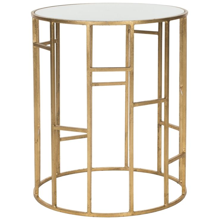 (alternative to white side table) Safavieh Treasures Doreen Gold/ White Top Accent Table   Overstock.com
