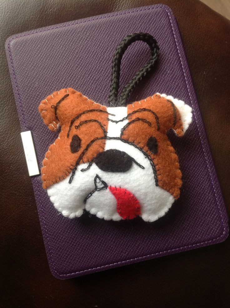 Felt Bulldog Crafting With Felt Pinterest Ornaments