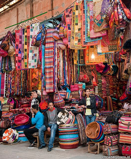 The souks in Marrakech, Morocco. I just have to go back to get some shopping done