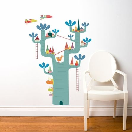 Village in the Tree Wall Decal