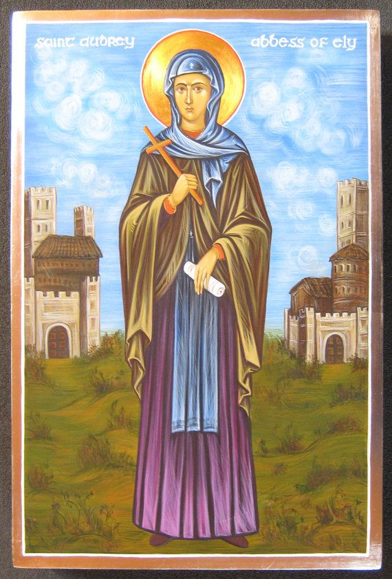 Icon of St Etheldreda [Audrey] Abbes of Ely: