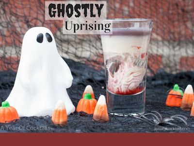 Ghostly Uprising - A Year of Cocktails The perfect shooter for Halloween!