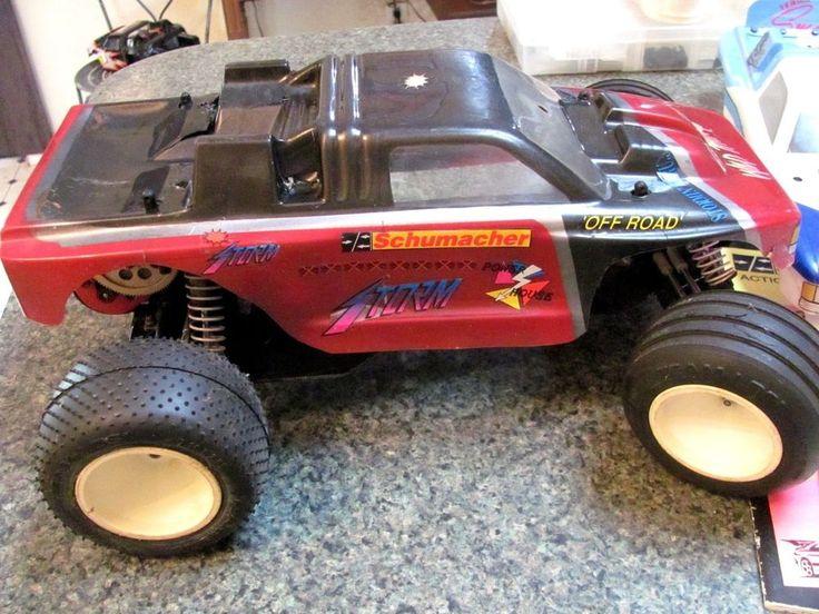 Vintage RARE Schumacher Storm 2000 RC Truck & Parts Lot 1st Edition #Schumacher