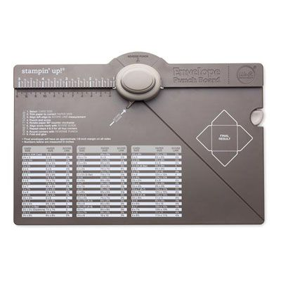 Envelope Punch Board - Stampin' Up! Now I can use my 12x12 DSP!