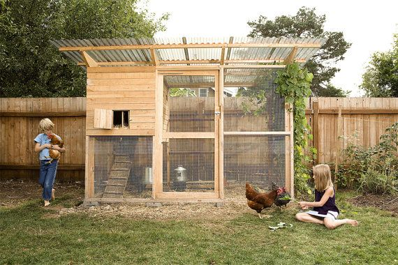 The Garden Coop Walk-In Chicken Coop Plan eBook (PDF), Instant Download, Imperial Units (Feet/Inches) | shopswell