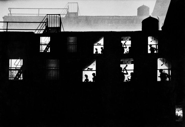 "W.Eugene Smith Photographer http://territoriotoxico.wordpress.com/ USA. NYC. 1957. ""Chaos Manor"". Photo montage."