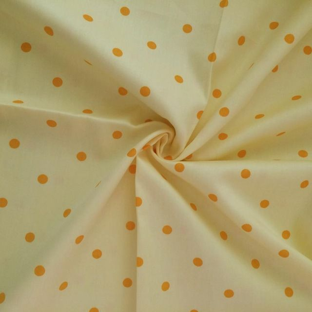 100*160 cm 100% Katoen twill geel met oranje stip jade Stof DIY patchwork Voor decor vel Beddengoed doek stof tissue