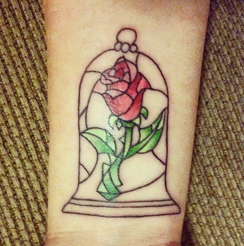 Stained Glass Gorgeousness | gorgeous Disney themed tattoos