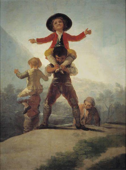 Francisco de Goya, Las gigantillas 1791/1792 (137 × 104 cm) Madrid, Museo del Prado.