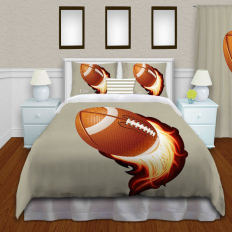 Boys Football Comforter Football Kids Themed Bedding Set